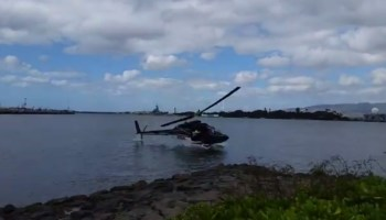 Sight-Seeing Helicopter Crashes at Pearl Harbor