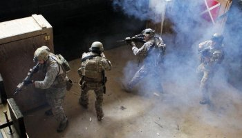 U.S. Special Forces train in CQB with Chilean Navy special operators