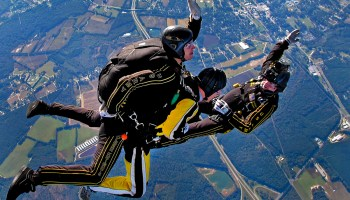 Watch: Amazing helmet cam footage from the U.S. Army Parachute Team 'Golden Knights'