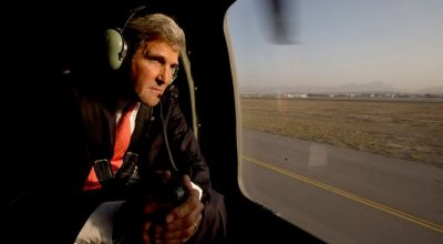 Rocket strikes in Kabul intended for John Kerry, Taliban say