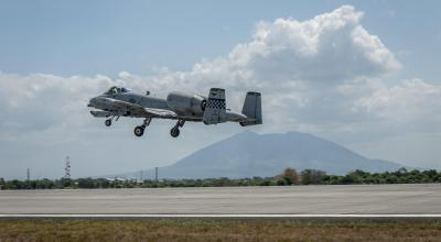 A-10s and Pave Hawks on Patrol in South China Sea