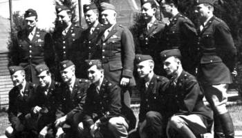 Maj. Gen. William J. Donovan poses with members of the OSS Operational Groups, forerunners of today's U.S special operations forces, at the Congressional Country Club in Bethesda, Md., which served as an OSS training facility. Under a bill introduced by Rep. Bob Latta (R-OH) and Senators Mark Warner (D-VA) and Roy Blunt (R-MO), the members of the OSS would be awarded a Congressional Gold Medal.
