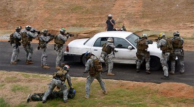 Special Forces direct-action training on Fort Bragg