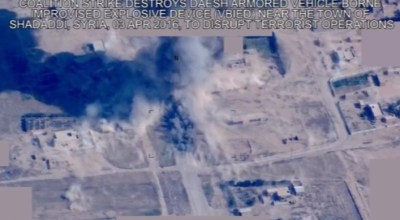 Watch: An A-10 Strafe an ISIS Armored VBIED in Syria