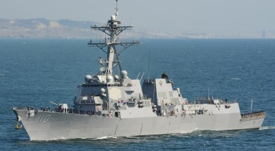 U.S. destroyer sails near disputed Chinese island