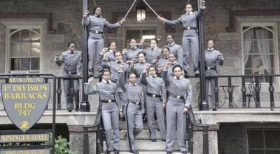 West Point is investigating whether 16 female cadets broke military rules by taking this photo