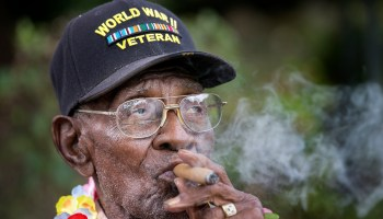 Oldest American WWII vet celebrates 110th birthday with a cigar
