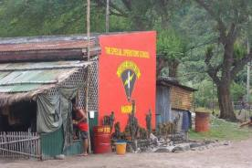 Philippine Force Reconnaissance Marine unit insignia at their school in the jungle of Bonafacio Naval Base, PI.