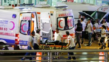 Terrorist attack at the Ataturk Airport in Turkey, killing at least 36 and injuring 147