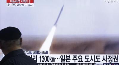 North Korea Fires 2 Suspected Midrange Missiles