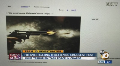 Police are investigating a Craigslist ad threatening an Orlando-style massacre in San Diego