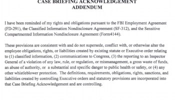 FBI agents were told to sign a