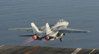 Watch: Old School F-14 Tomcat Carrier Ops