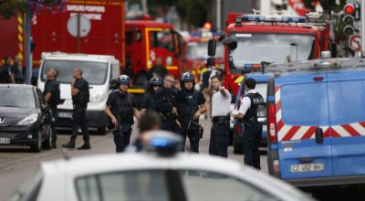 Catholic priest's throat slit by two Islamic State terrorists in France