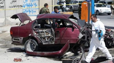 At least 2 wounded in bombing near US Embassy in Afghanistan
