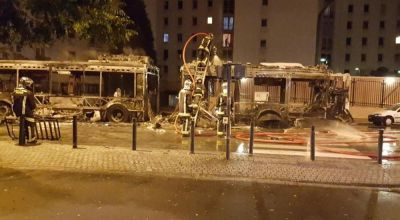 Watch: Passenger bus in Paris is torched by molotov cocktails