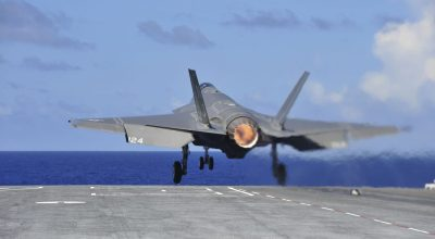 Watch: F-35C Sea Trial Carrier Operations