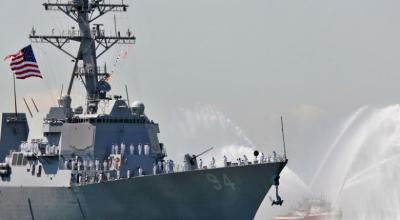 Watch: Iran tries to intercept the USS Nitze in the Strait of Hormuz