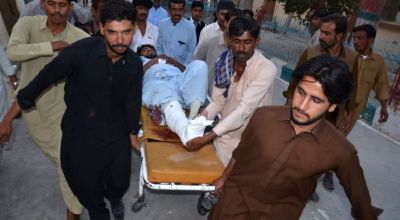 Suicide bombing in Pakistan mosque kills 24 during Friday prayer service