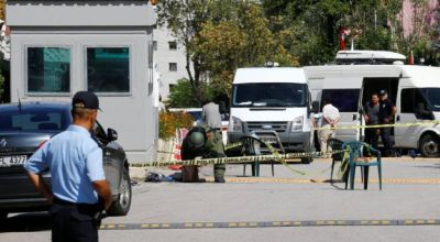Watch: Man shot while trying to enter the Israeli embassy in Turkey