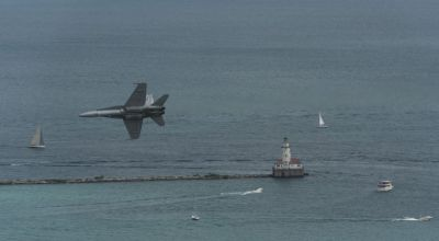 Watch: Inside the Cockpit F-18 Demo Over Chicago Air and Water Show