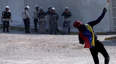Venezuelan President Is Chased by Angry Protesters