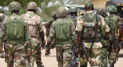 Troops neutralizes female Boku Haram suicide bomber in Borno (VIEWER DISCRETION)