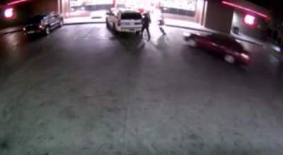 Watch: Three Phoenix police officers are lucky to be alive after suspect tries to run them over