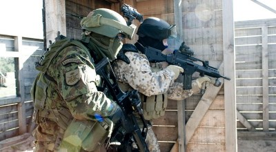 Latvian Special Forces trains for hostage rescue at Israeli embassy