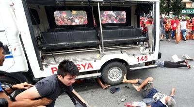 Watch: Anti-US protest turns violent outside of US Embassy in Philippines