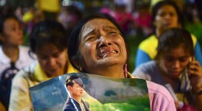 As Thailand mourns, junta says king's death won't delay vote