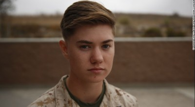 A transgender Marine comes out