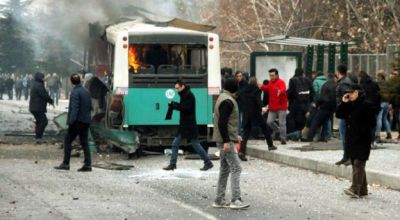 Turkish bus attack: 13 off-duty soldiers killed by car bomb