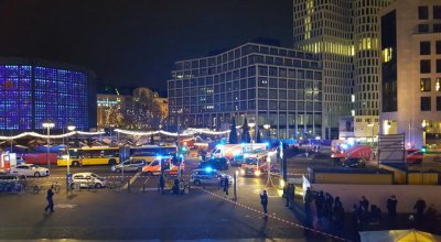Large truck drives into a crowded Christmas market in Berlin, multiple fatalities and injuries reported