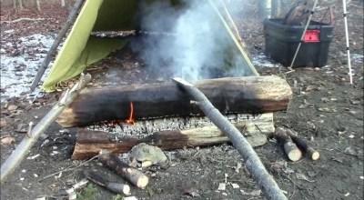WATCH: Make a campfire last all night