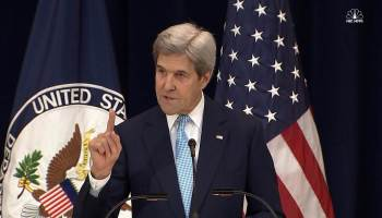 Kerry rebukes Israel, calling settlements a threat to peace