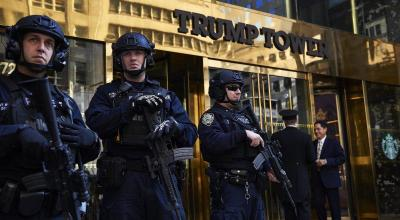 Baruch College student busted at Trump Tower with backpack full of weapons including knives, firework