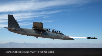 Textron's First Production Scorpion Jet Completes First Flight and Weapons Testing