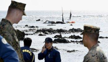 marine corps osprey crash in japanese waters