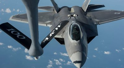 Watch: F-22 Raptors Refueling from KC-135 with Comms