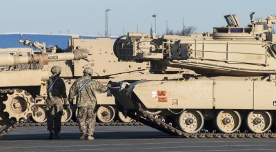 U.S. tanks roll into Germany to bolster NATO deterrent against possible Russian aggression