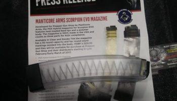 Manticore Scorpion Mags – Shot Show