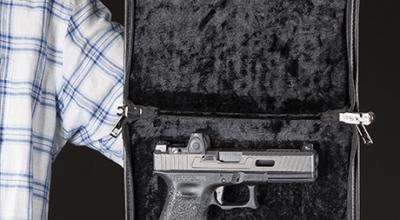 Magnetic locking travel gun cases: Supertool