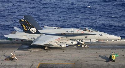 Watch: In Your Face! Navy F-18 Pilot From The Inside – VFA-83 Cruise Video