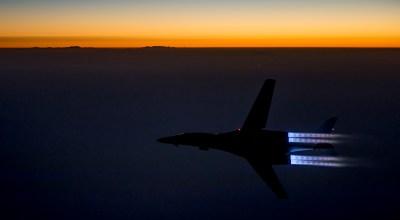 Watch: B-1 Lancer Bomber Night Takeoff in Full Afterburner