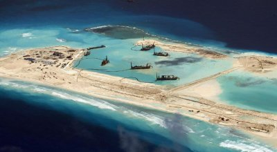 China nears completion on island structures that may house long range missiles in South China Sea