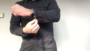 Arc'teryxSkylineLong Sleeve Shirt: Button down in a lightweight, wrinkle-resistant performance fabric