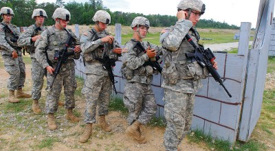 Three women prepare to 'Turn Blue' in another first for the U.S. Army