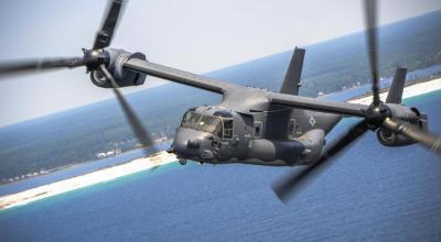 Watch: 10 USAF CV-22 Osprey tilt-rotor aircraft fly in formation