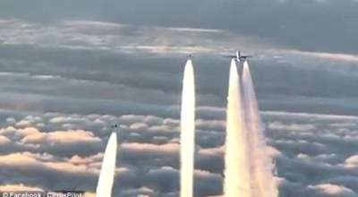 Watch: Two German Fighter Jets Intercept and Escort a London Bound Airliner